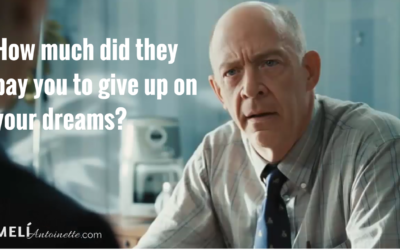 How much did they pay you to give up on your dreams?