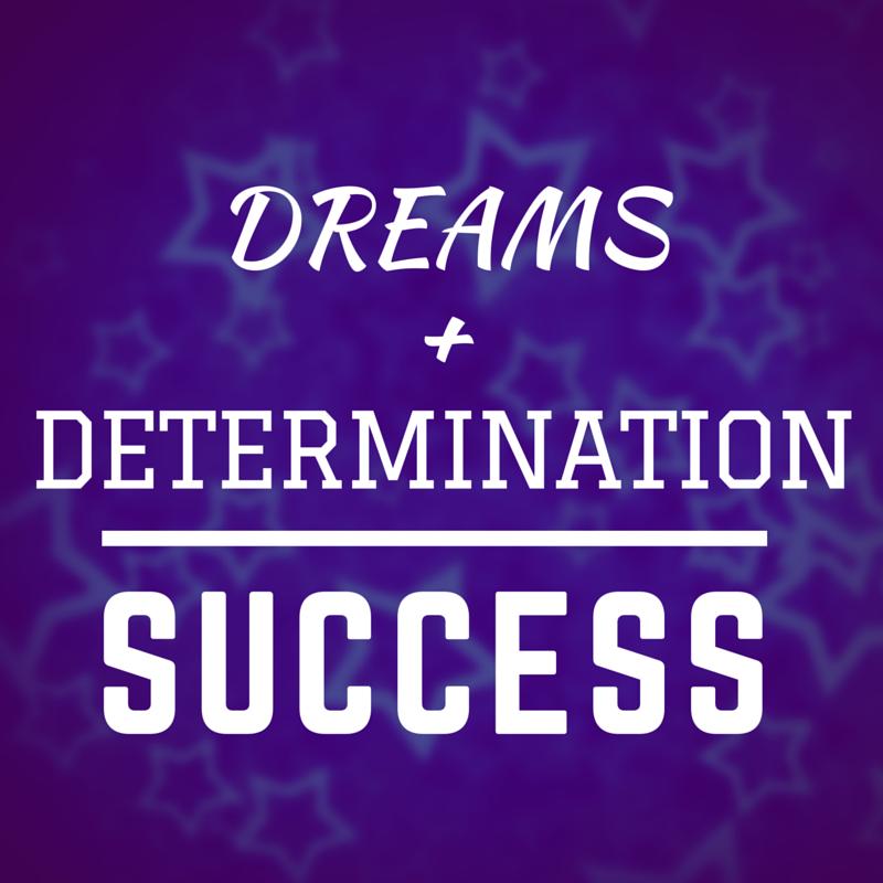 Dreams plus determination equals success #WOW Ameli Antoinette