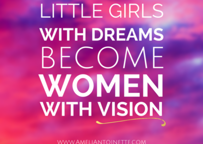 Little girls with dreams become women with vision #WOW