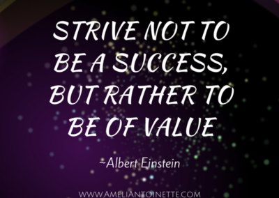 Strive to be of value #WOW