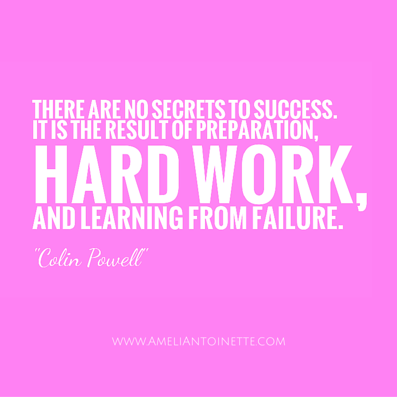 hard work and learning from failure equals success #WOW Ameli Antoinette