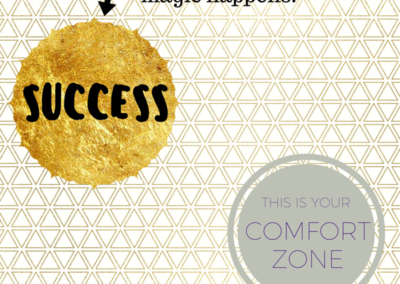Success happens out of your comfort zone #WOW