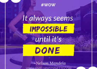 It seems impossible until it's done #WOW