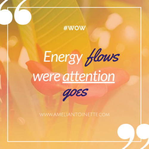 Energy flows where attention goes #WOW Ameli Antoinette