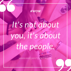 it's not about you it's about the people Ameli Antoinette paulo barroso